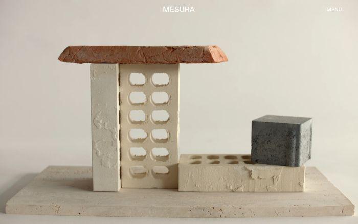 Screenshot of Mesura – Home