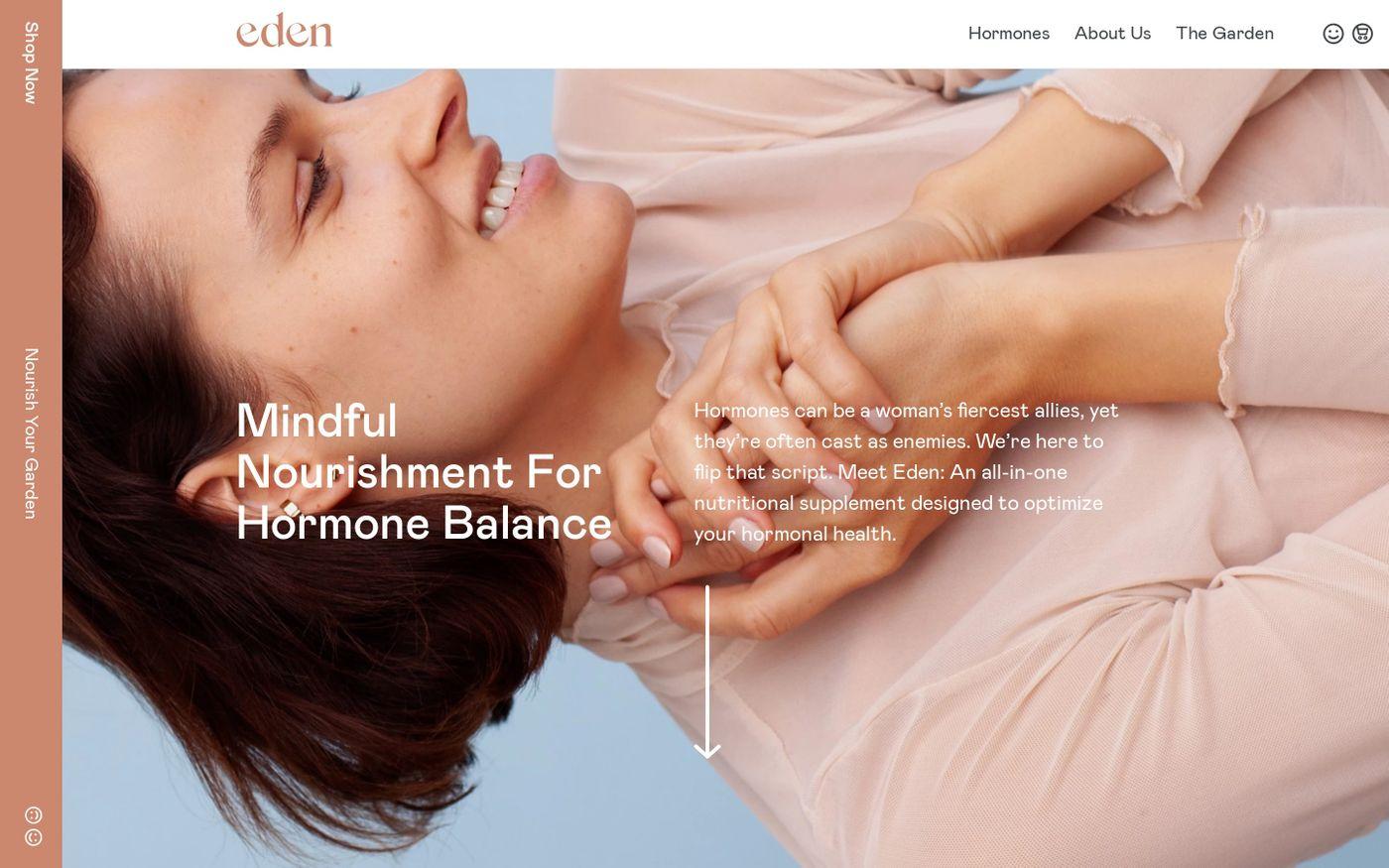 Screenshot of Hello Eden website