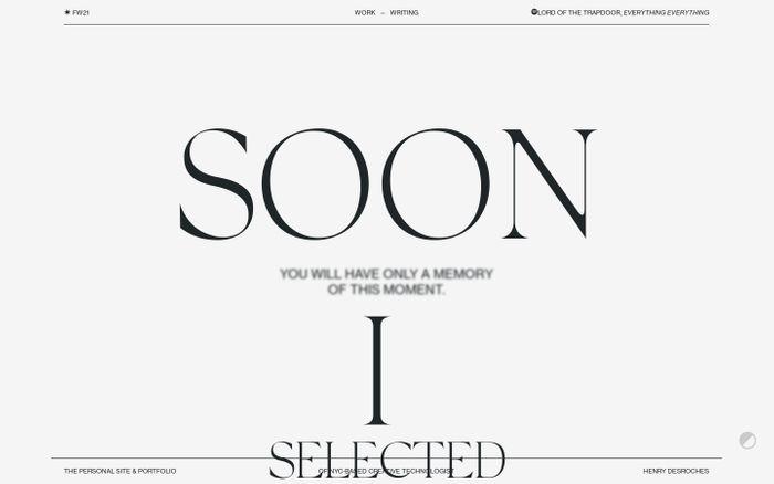 Screenshot of Henry Desroches website