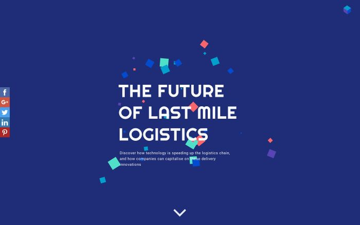Screenshot of Last Mile Logistics | Rajapack UK