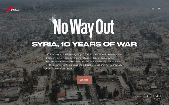 Screenshot of Syria 10 years of war