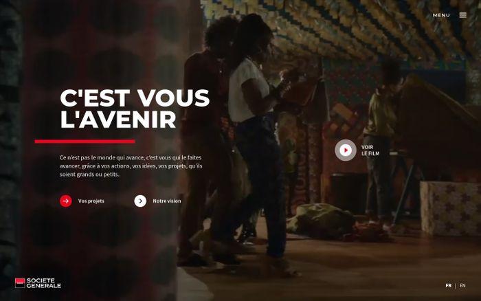 Screenshot of C'est vous l'avenir | Société Générale