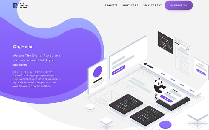 Screenshot of The Digital Panda | Design Develop Deliver