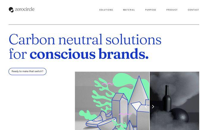 Screenshot of Zerocircle website