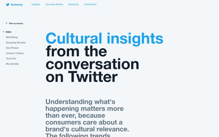 Screenshot of Explore the insights & conversations on Twitter shaping culture