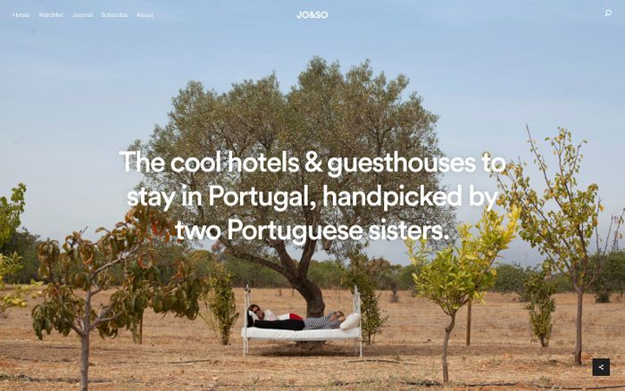 Screenshot of The Cool Hotels to Stay in Portugal Handpicked by JO&SO