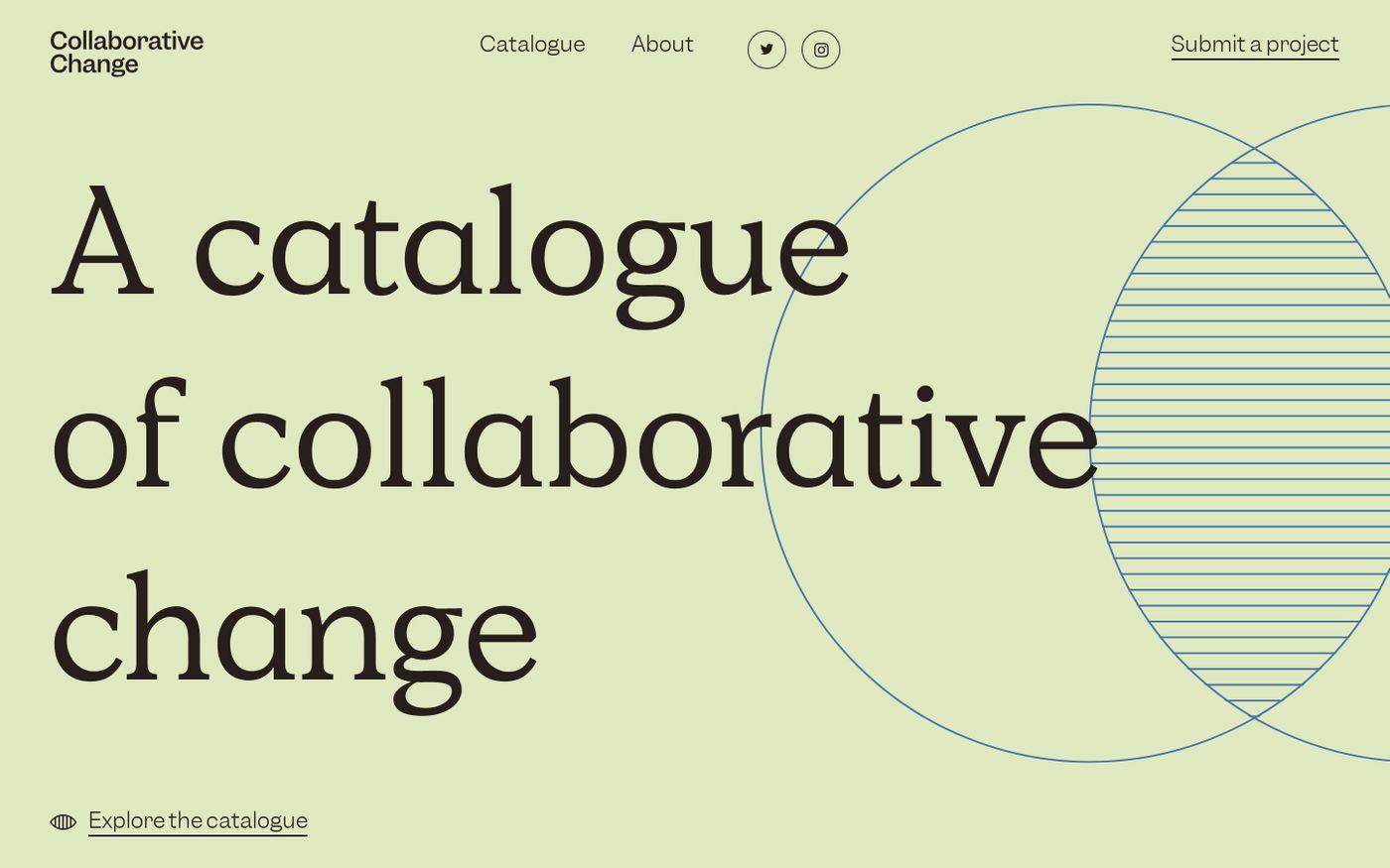 Screenshot of Collaborative Change   A catalogue of collaborative change website