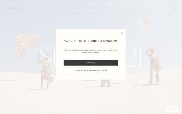 Screenshot of Cult Gaia website
