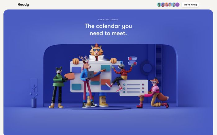 Screenshot of Ready — The calendar you need to meet.