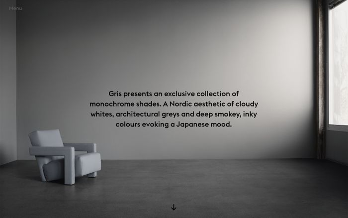 Screenshot of Gris - An exclusive collection of monochrome paints
