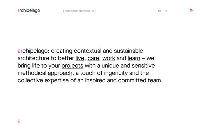 Screenshot of Creating contextual and sustainable architecture to better live, care, work and learn | archipelago