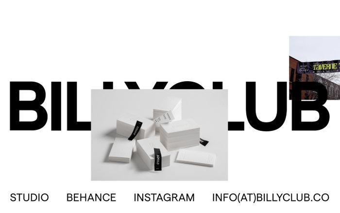Screenshot of Billyclub website