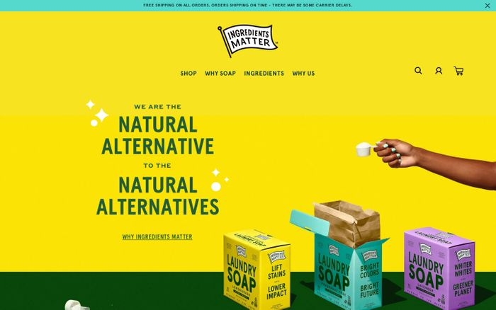 Screenshot of Ingredients Matter website