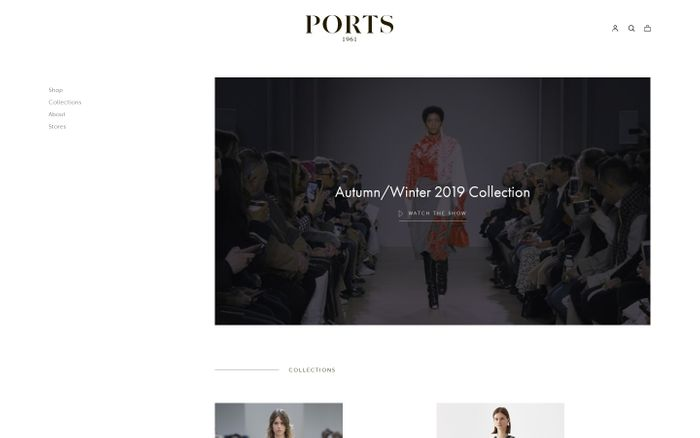 Screenshot of Ports 1961 Official Online Store