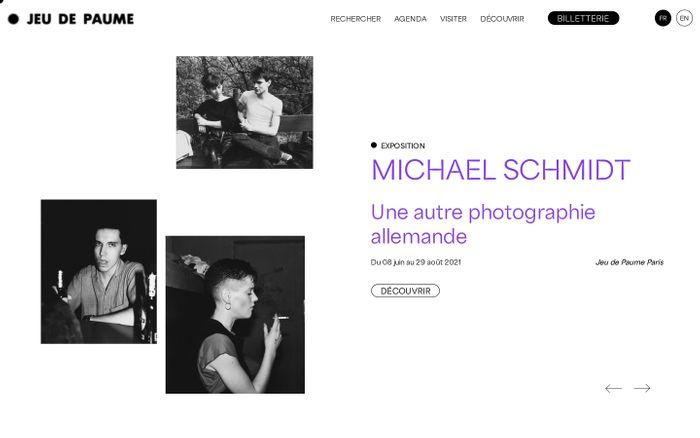 Screenshot of Jeu de Paume website