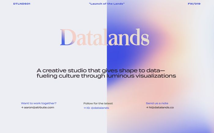 Screenshot of Datalands — Art, Data, Design