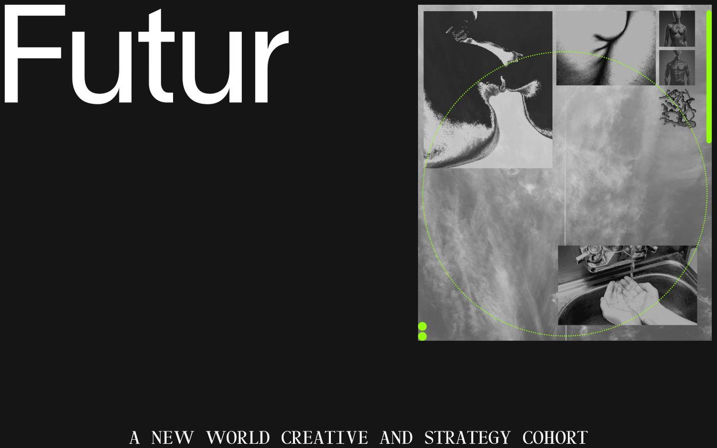 Screenshot of Futurimpose website