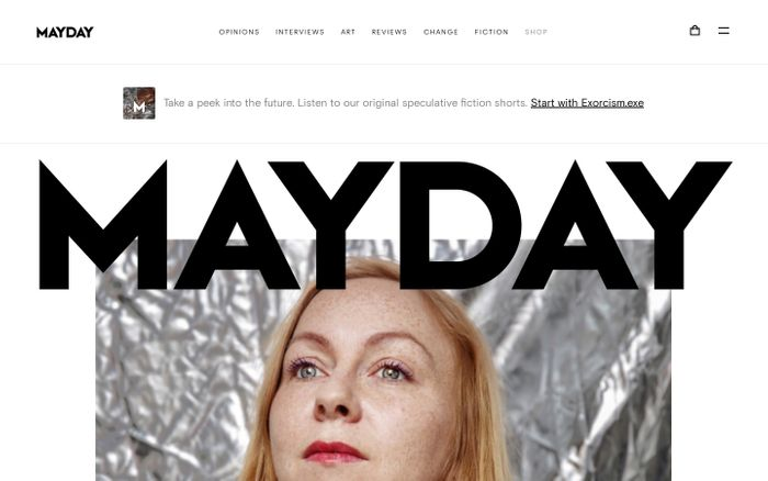 Screenshot of Mayday website