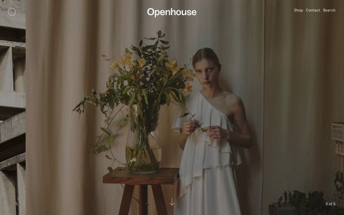 Screenshot of Openhouse Magazine website