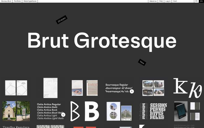 Screenshot of Bureau Brut