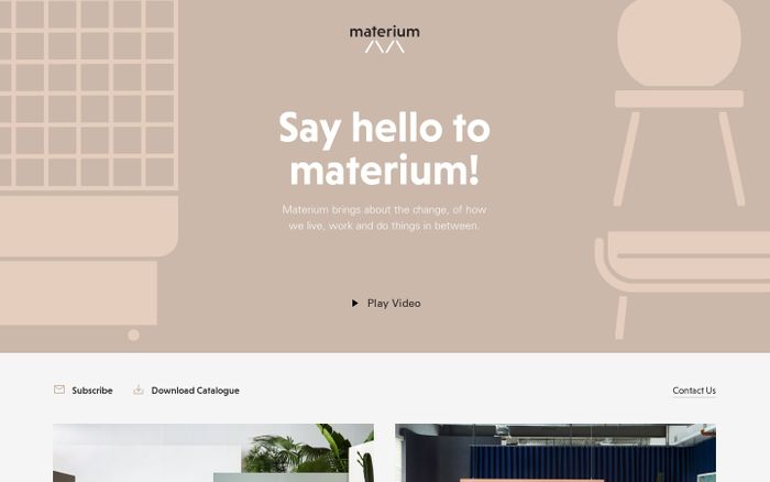 Screenshot of Materium – Work, Live, and the In-Between