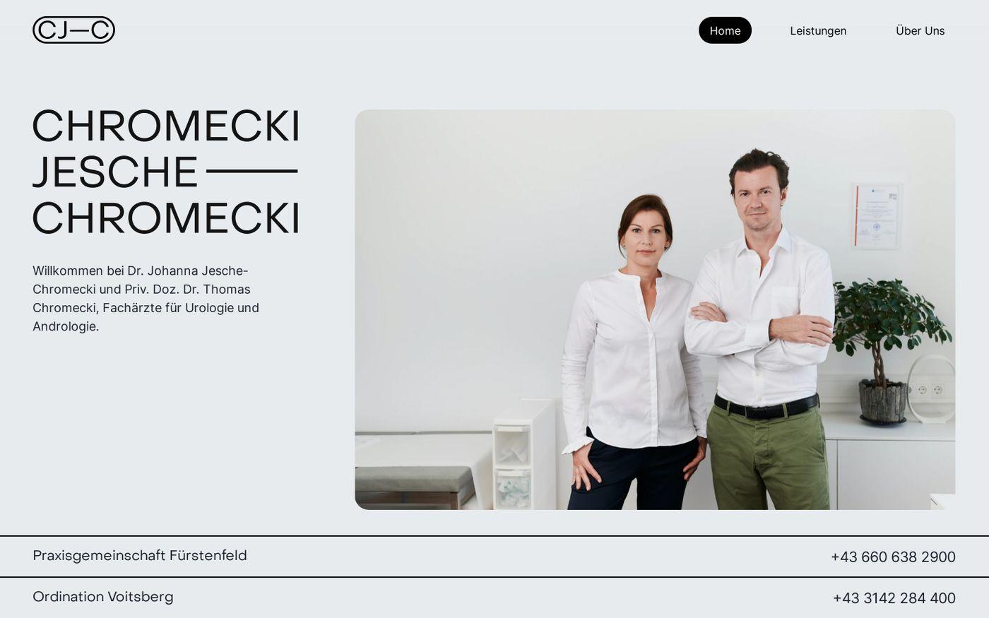 Screenshot of  Ordination Chromecki Jesche-Chromecki website