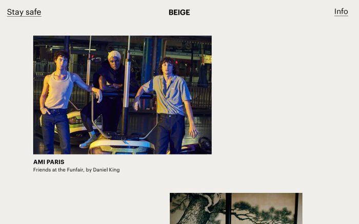 Screenshot of Beige website