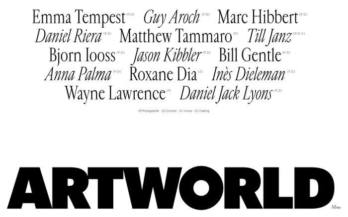 Screenshot of Artworld website