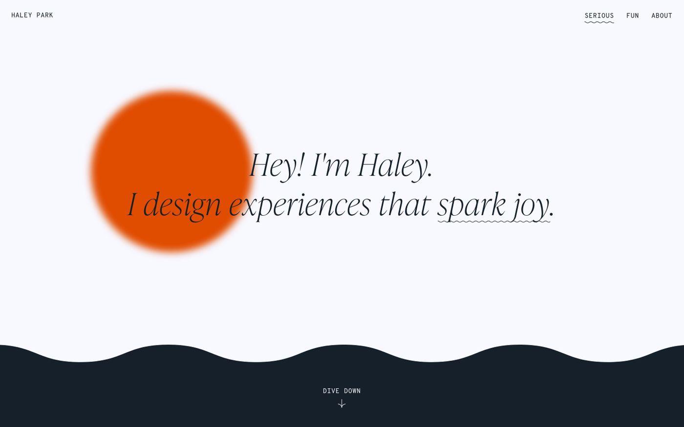 Screenshot of Haley Park website