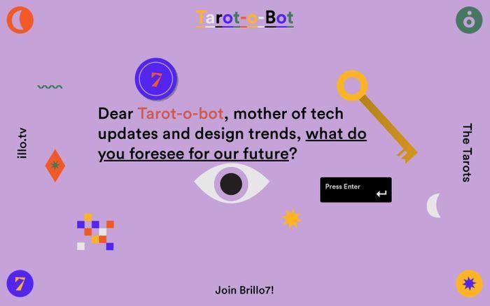 Screenshot of Tarot-o-bot
