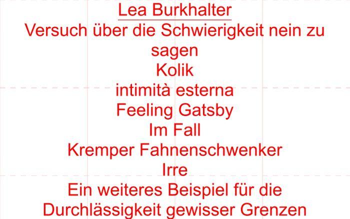 Screenshot of Lea Burkhalter | Home
