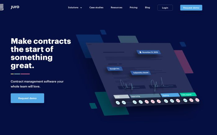 Screenshot of Juro | Faster, smarter, more human contracts