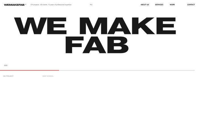 Screenshot of We Make Fab website