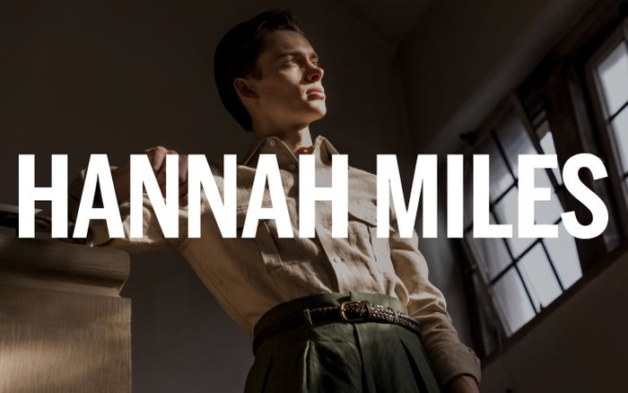 Screenshot of Hannah Miles website