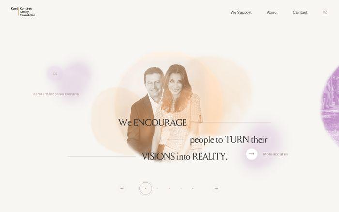 Screenshot of Karel Komárek family foundation website