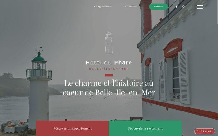 Screenshot of Le charme et l'histoire au coeur de Belle-Île-en-Mer - Hôtel du Phare - Hotel du phare
