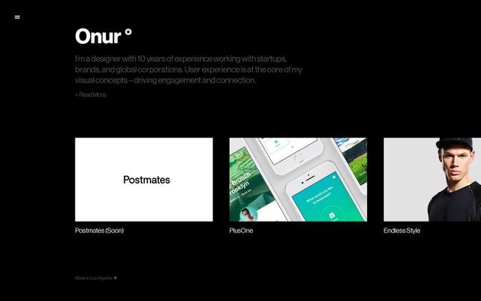 Screenshot of Onur° - Designer
