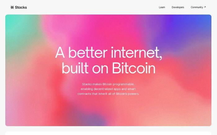 Screenshot of Stacks website