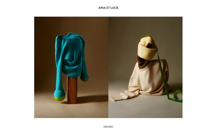 Screenshot of Ania et Lucie website