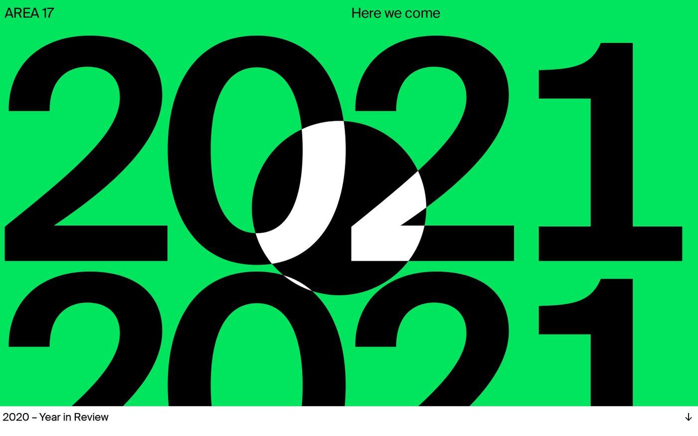 Screenshot of Year in Review 2020 website