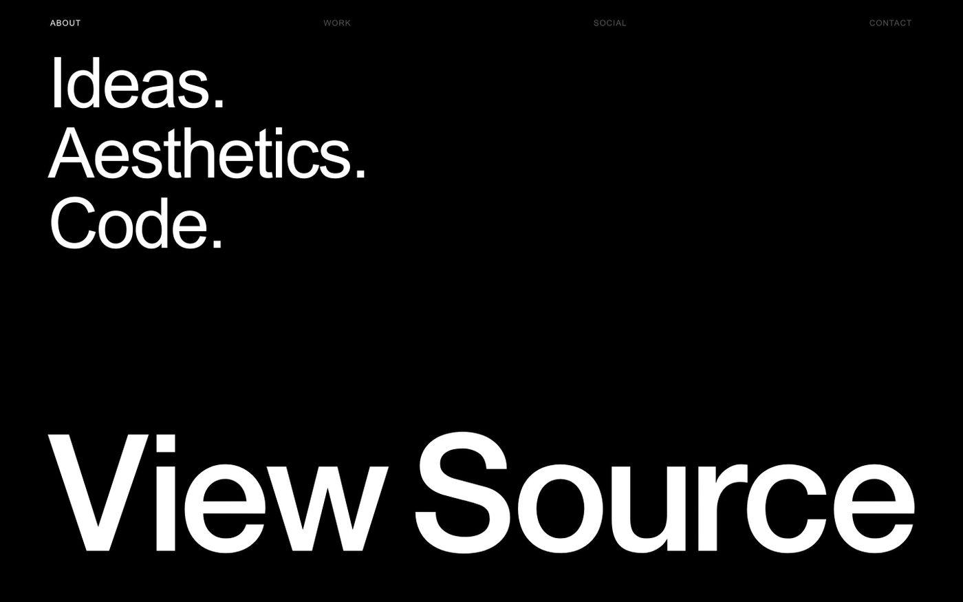 Screenshot of View Source website