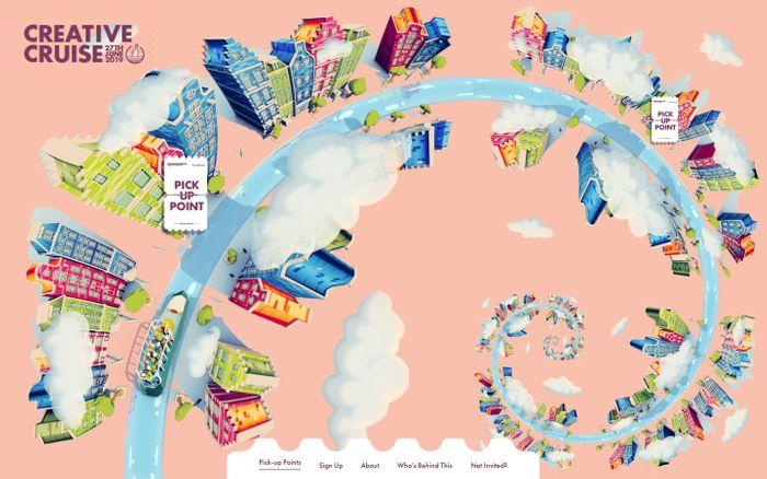 Screenshot of Creative Cruise website