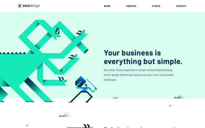 Screenshot of ZoCo Design   Digital & UX design + Branding + Innovation