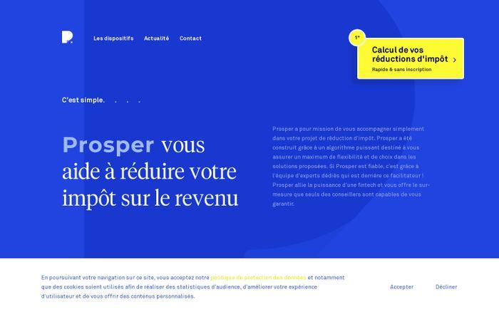 Screenshot of Prosper vous aide à réduire votre impôt sur le revenu