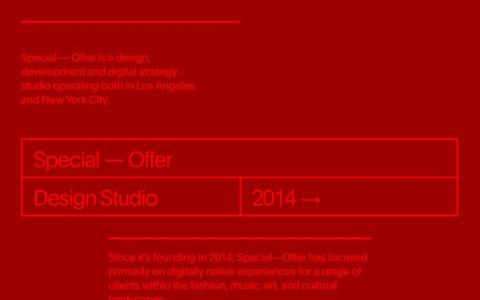 Screenshot of Special–Offer Studio website