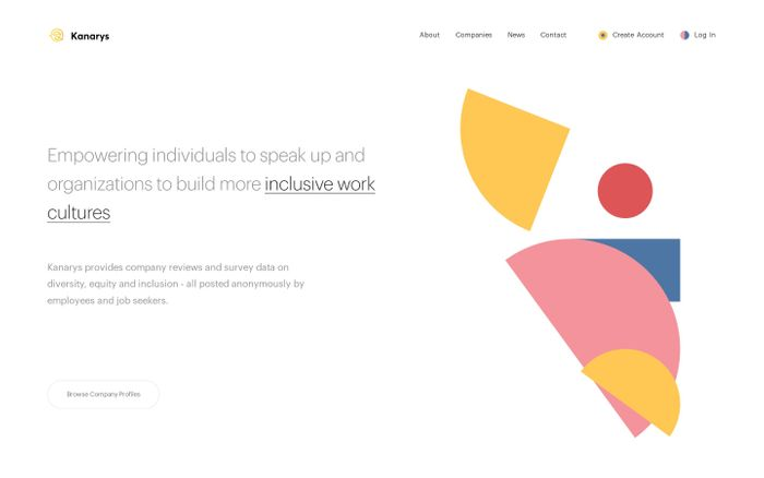 Screenshot of Kanarys - Find Workplaces Where You Belong