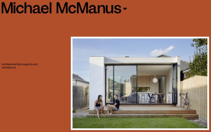 Screenshot of Michael McManus architects website