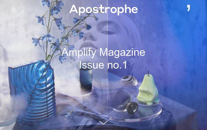 Screenshot of Amplify Magazine website