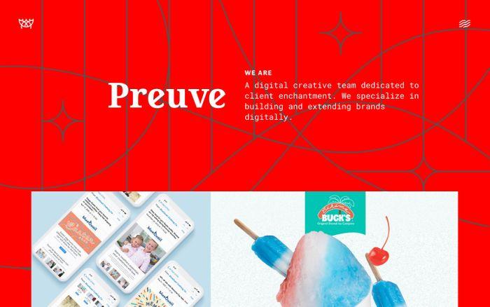 Screenshot of Preuve Digital website