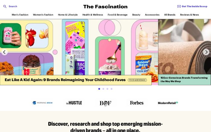 Screenshot of The Fascination website